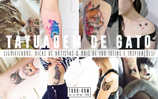 imagem de introdução ao post sobre tatuagem de gato