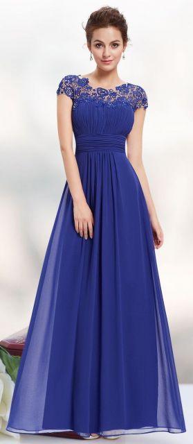 vestido azul royal