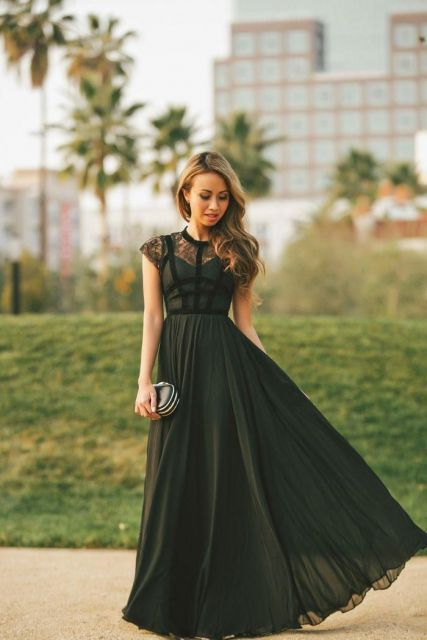 Vestido para formatura na cor preto