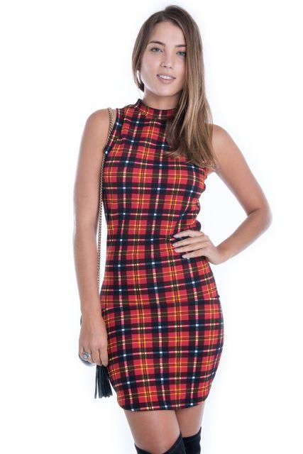 vestido-xadrez-regata