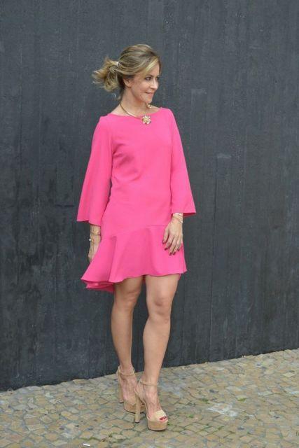 vestidos-de-festa-para-baixinhas-curto-rosa