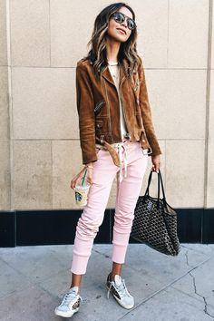 Camurça e rosa claro