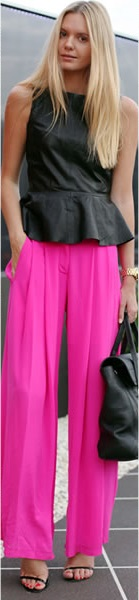 Look preto com pink