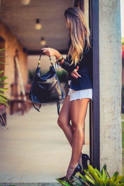 look com bolsa de couro legítimo