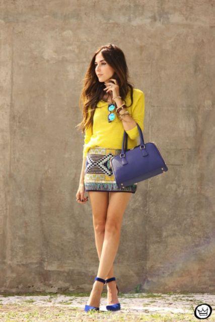 look com bolsa azul