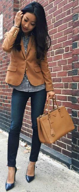 look blazer marrom