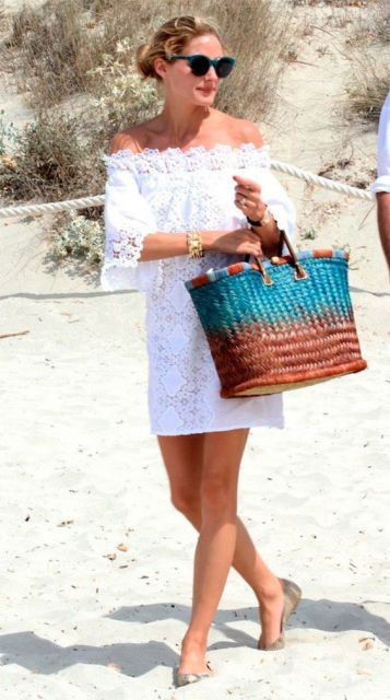 bolsa de palha colorida