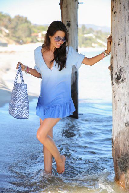 bolsa estampada azul