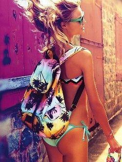 mochila praia
