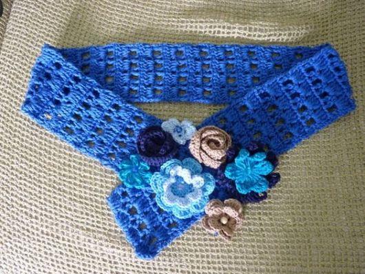 azul com flores