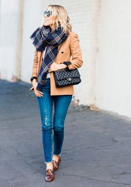 look casaco caramelo