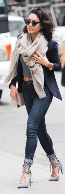 calça jeans com cropped