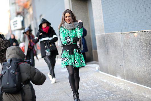 look com vestido verde