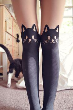 meia calça de gatinho simples