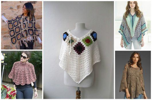 Poncho de Crochê: 78 Modelos Lindos + Gráficos e Receitas!