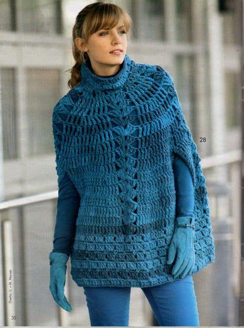 poncho azul
