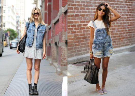 Duas opções de looks minimalistas com bota preta e alpargatas