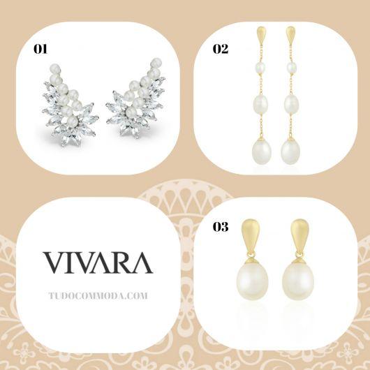 Modelos de brincos da Vivara