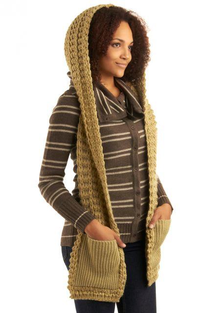cachecol de lã com bolso