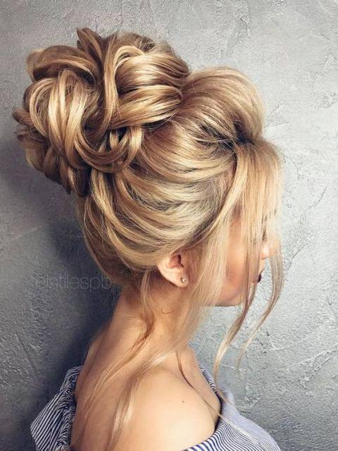 penteado com franja longa