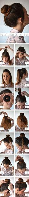como fazer penteado simples