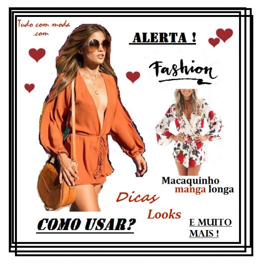 Colagem com gráficos de mulher vestindo macaquinho laranja e óculos redondo.
