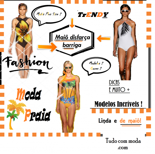0c6b525dfea0 Maiô para disfarçar a barriga: 28 modelos apaixonantes e dicas plus ...