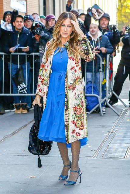 look casaco floral