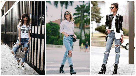 look calça jeans com meia
