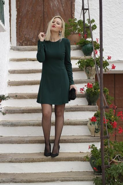 look vestido de inverno
