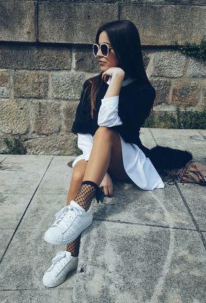 look com tênis branco