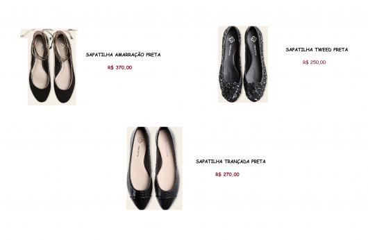 Sapatilha preta da marca capordate e seus preços.