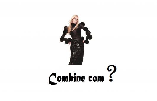 """Modelo de preto e letreiro escrito """"combine com?"""""""