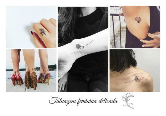 Tatuagem Feminina Delicada 85 Inspirações De Desenhos E