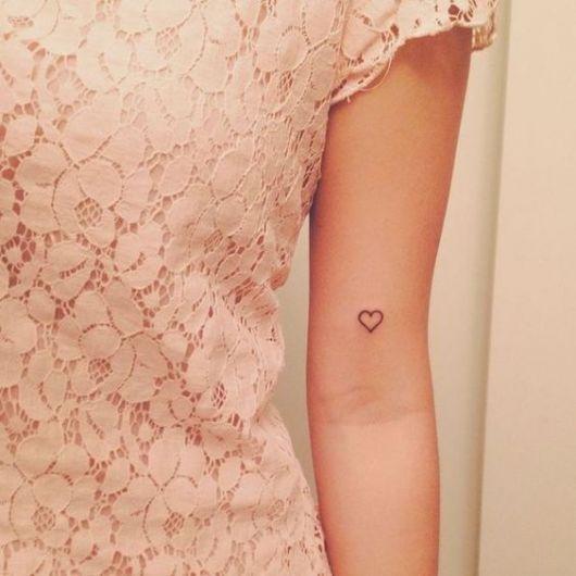 tatuagem coração pequeno