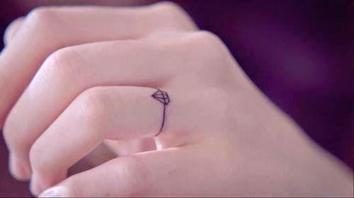 tatuagem diamante