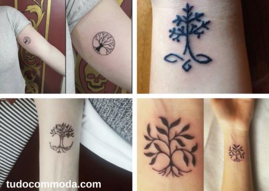 seleção de fotos de tatuagem de árvore da vida delicada