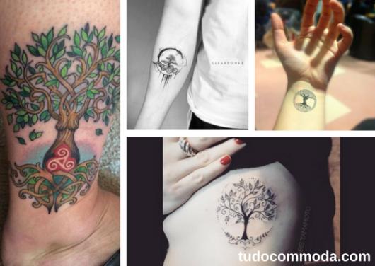 seleção de fotos de tatuagem árvore da vida