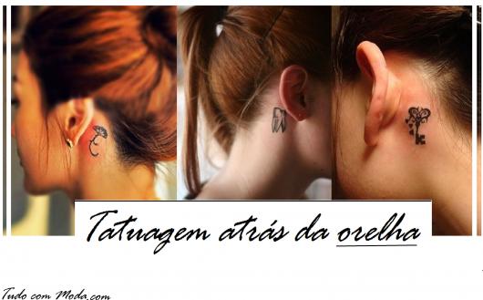 Tatuagem Atrás da Orelha: +de 40 Ideias Incríveis para se inspirar!