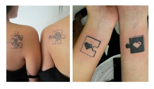 Modelo de tatiagem de quebra -cabeça.