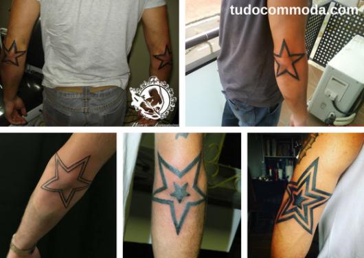 tatuagens de estrela no cotovelo
