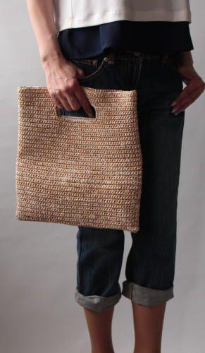 bolsa quadrada de mão