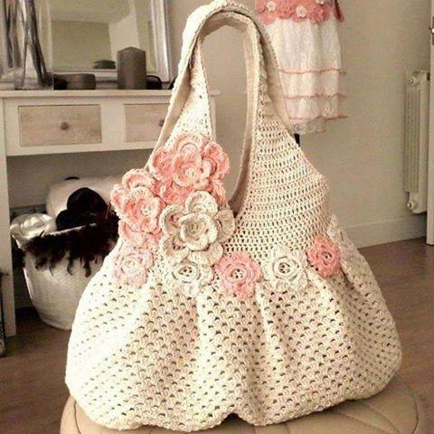 bolsa decorada flores