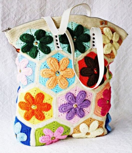 bolsa colorida flores