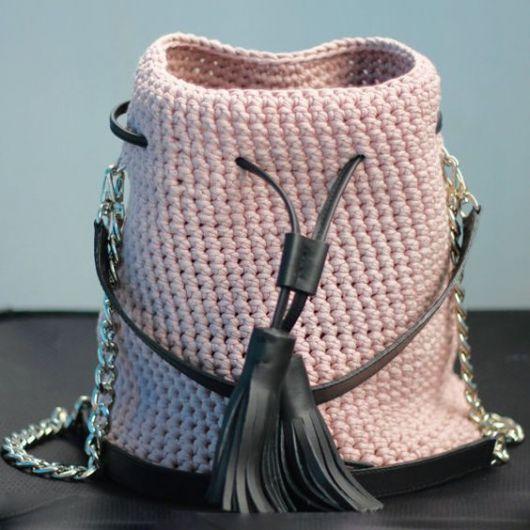 bolsa saco rosa