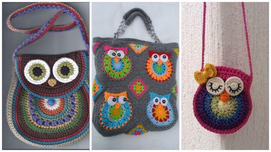 modelos de bolsas de coruja