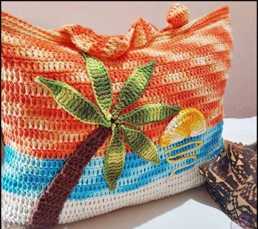 bolsa decorada praia