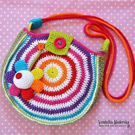 bolsa colorida infantil