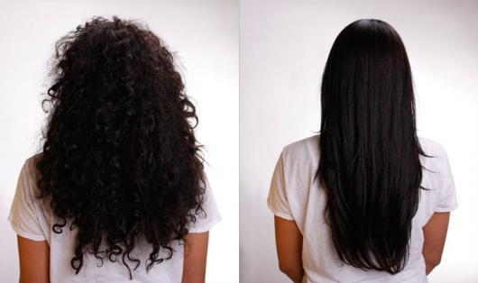cabelo cacheado antes e depois