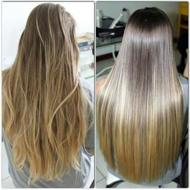 antes e depois cabelo ondulado